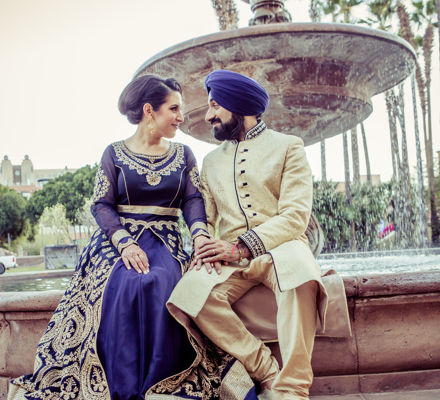Indian Couple at Fountain